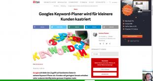 Google Keword Planer Änderungen 2016